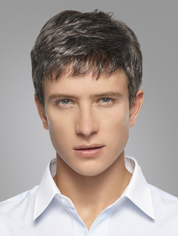 Great Synthetic Grey Men Wigs
