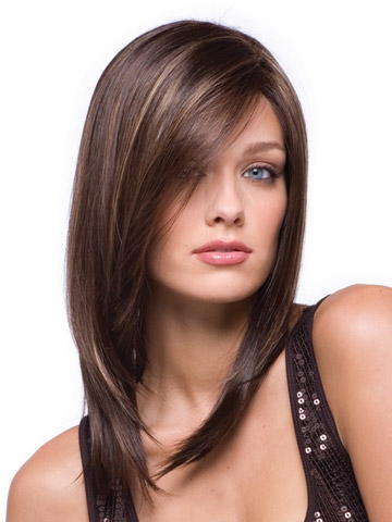 Auburn Long Straight Synthetic Wigs