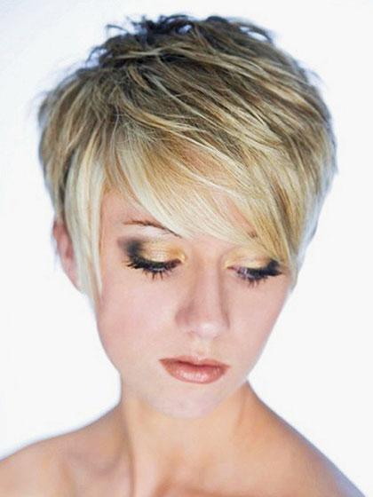 Quality Short Straight Blonde Fiber Wigs