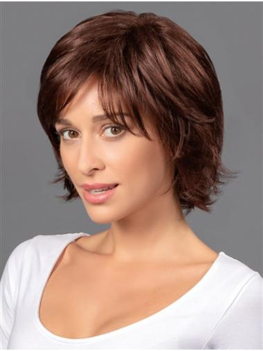 "8"" Short Cheapest Brown Wavy Bob Wigs"