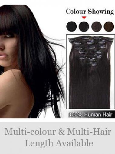 Remy Human Hair Straight Soft Clip in Hair Extensions