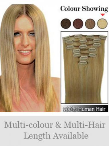 Remy Human Hair Straight Discount Clip in Hair Extensions