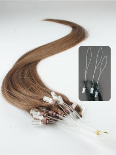 Brown Straight Soft Hair Extensions Micro Loop Ring
