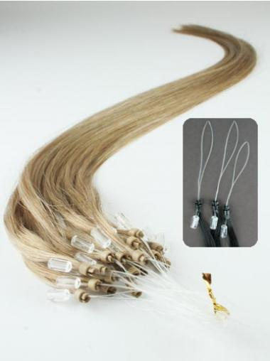 Straight Blonde Durable Hair Extensions Micro Loop Ring