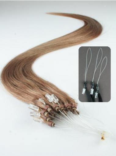 Straight Brown Great Hair Extensions Micro Loop Ring