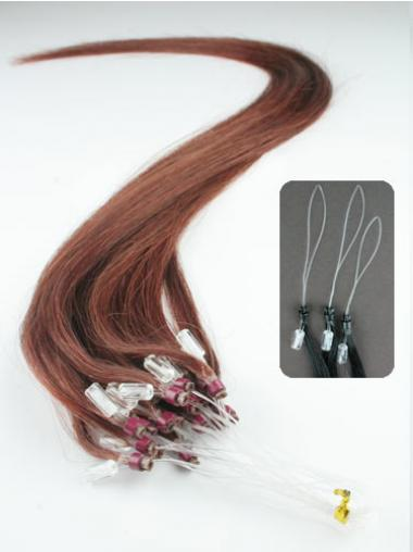 Straight Auburn Exquisite Hair Extensions Micro Loop Ring