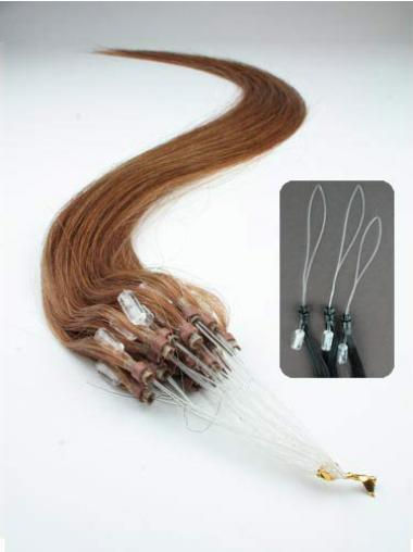 Auburn Straight No-fuss Hair Extensions Micro Loop Ring