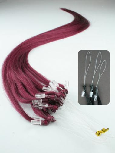 Red Straight Perfect Hair Extensions Micro Loop Ring