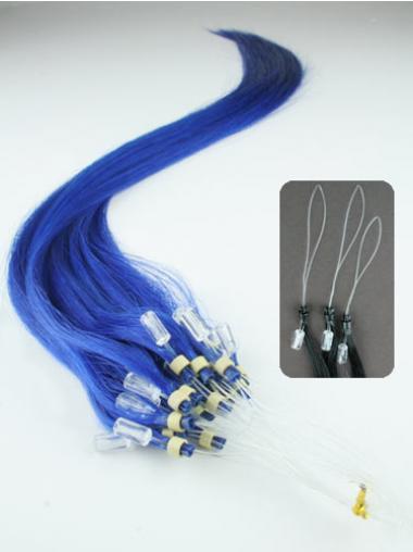 Straight Black Gorgeous Hair Extensions Micro Loop Ring