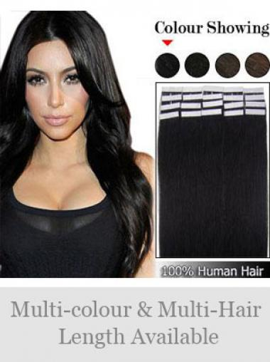 Black Straight High Quality Weft Extensions