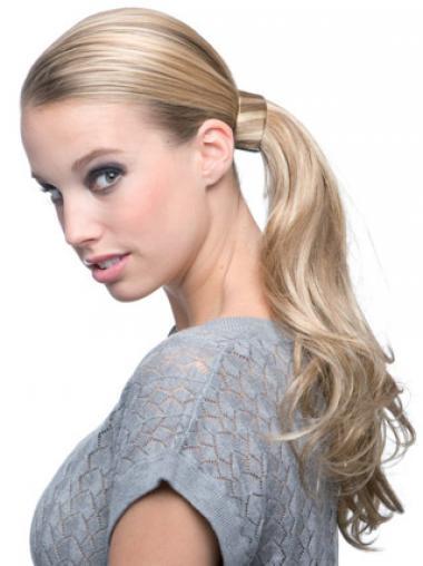 Wavy Blonde Designed Ponytails