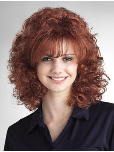 Auburn Classic Curly Exquisite Medium Wigs