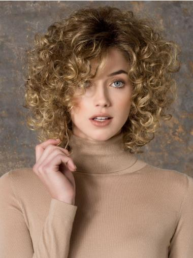 Blonde Layered Curly Modern Long Wigs