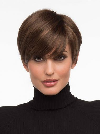 Brown Boycuts Straight Style Short Wigs