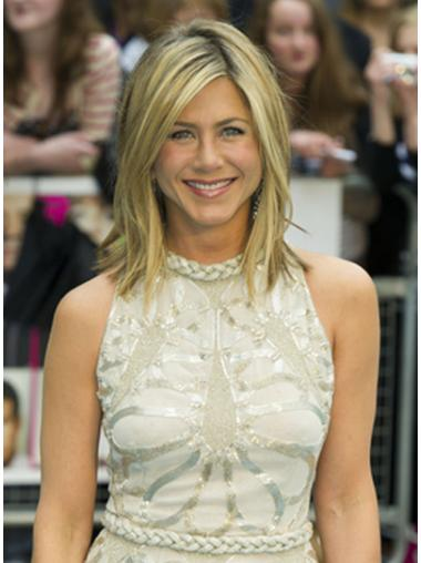 Blonde Layered Synthetic Soft Jennifer Aniston wigs