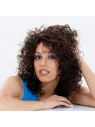 Brown Curly Affordable African American Wigs