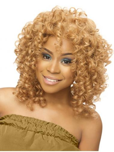 Blonde Afro Curly Perfect Full Lace Wigs