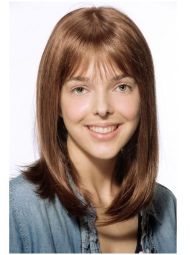 Straight Brown Lace Front Ideal Kids Wigs