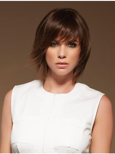 Brown Layered Straight Sleek Lace Front Wigs