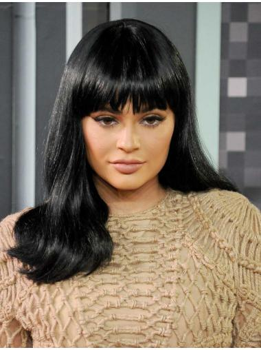 Wavy Black Lace Front Comfortable Kylie Jenner wigs