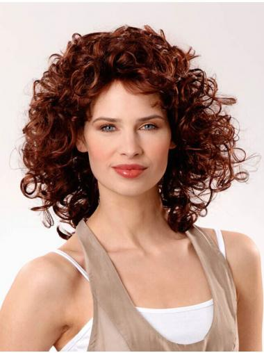 Curly Auburn Layered Ideal Synthetic Wigs