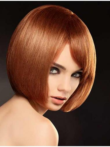 Bobs Auburn Straight Designed Full Lace Wigs