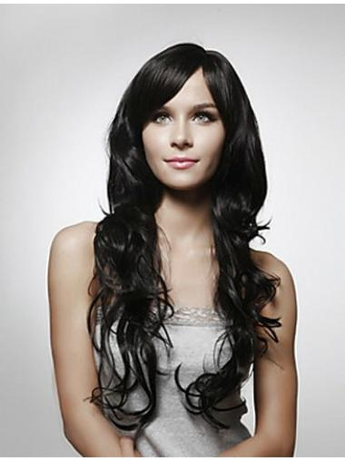 Layered Black Curly Gorgeous Long Wigs