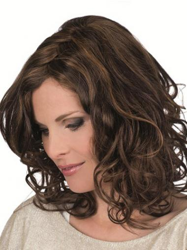 Brown Layered Curly Great Petite Wigs