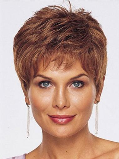 Boycuts Auburn Straight Convenient Lace Front Wigs