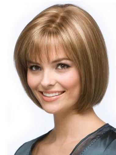 Straight Blonde Bobs Exquisite Medium Wigs