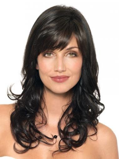 Black Layered Wavy Stylish Human Hair Wigs