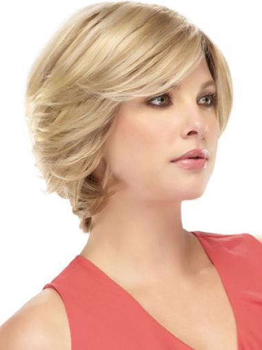 Blonde With Bangs Wavy Great Remy Human Lace Wigs
