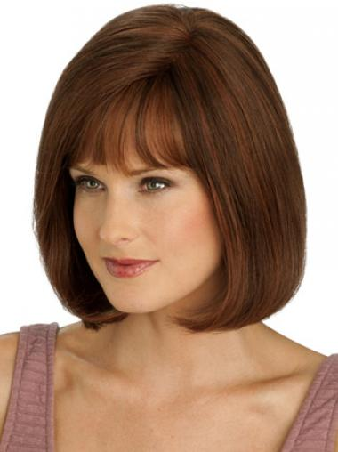 Auburn Bobs Straight Stylish Full Lace Wigs