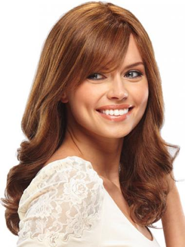 Auburn Layered Wavy Soft Glueless Full Lace Wigs