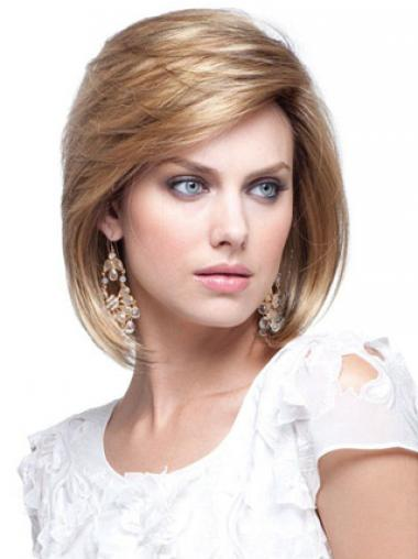 Blonde Bobs Straight Perfect Human Hair Wigs