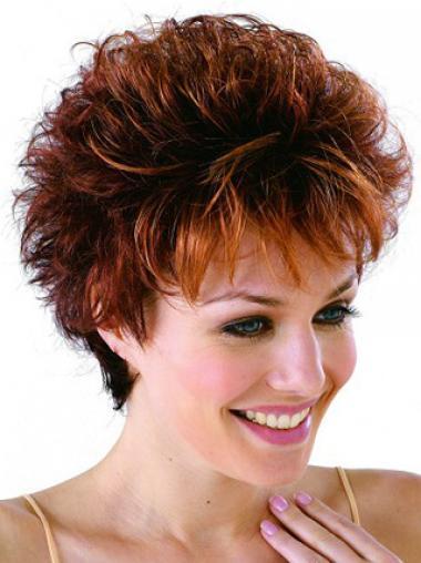 Boycuts Auburn Curly Designed Classic Wigs