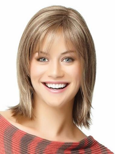 Bobs Blonde Straight Good Medium Wigs