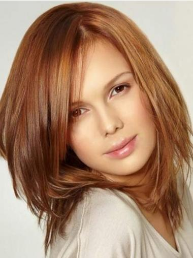 Auburn Layered Straight Stylish Celebrity Wigs