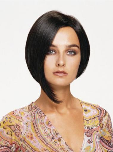 Bobs Black Straight Affordable Medium Wigs