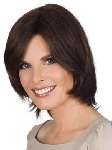 Brown Bobs Straight Suitable Medium Wigs