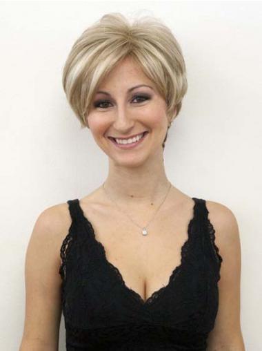 Blonde Boycuts Wavy Style Celebrity Wigs
