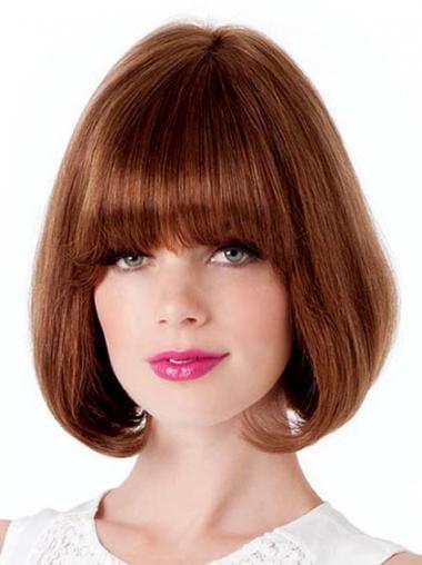 Straight Auburn Bobs High Quality Medium Wigs