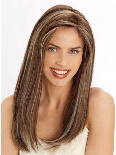Straight Brown Lace Front Designed Long Wigs