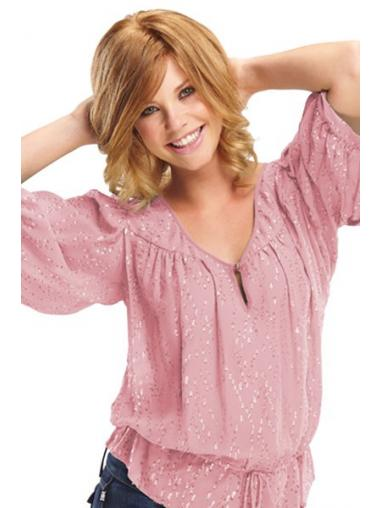 Blonde Layered Wavy Suitable Petite Wigs
