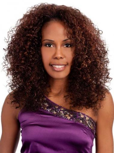 Auburn Afro Curly Fashion Medium Wigs