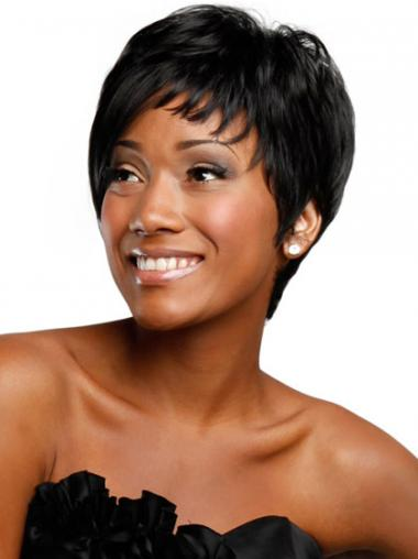 Straight Boycuts Black Fabulous African American Wigs