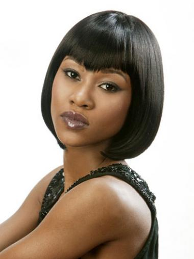 Bobs Black Straight Flexibility Medium Wigs