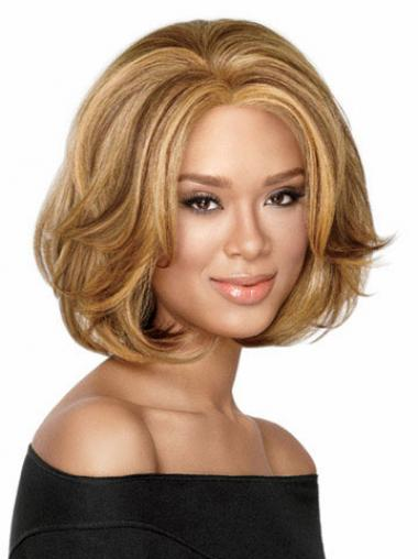 Blonde Bobs Wavy No-fuss Medium Wigs