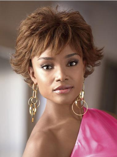 Brown Layered Wavy Incredible African American Wigs