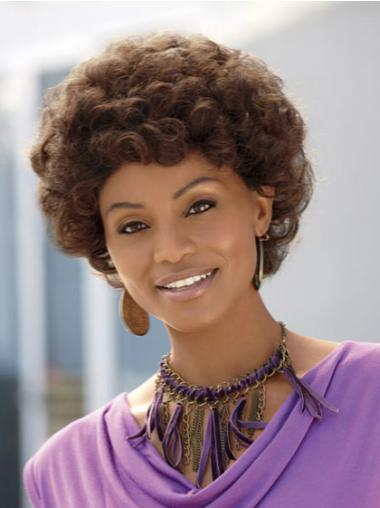 Brown Curly Ideal African American Wigs